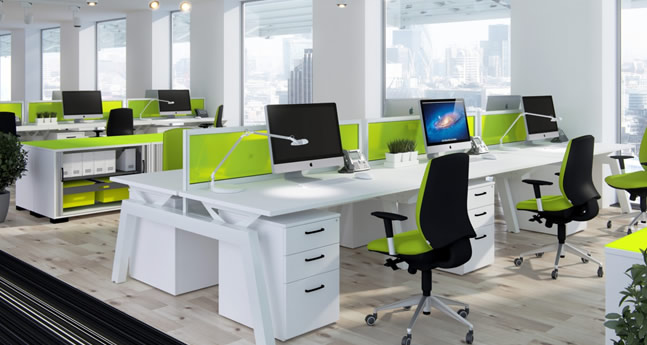 green-office-furniture